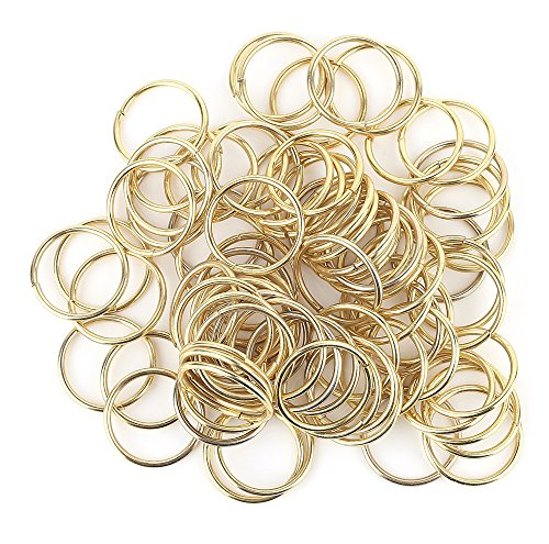 200 PCS Open Jump Rings Gold Plated Connectors DIY Jewelry Findings (Sterling Silver Twisted Wire Toggle)