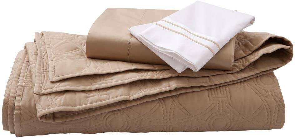 Home Decorators Collection Hotel Quilt Set, Full/Queen, Craft Brown