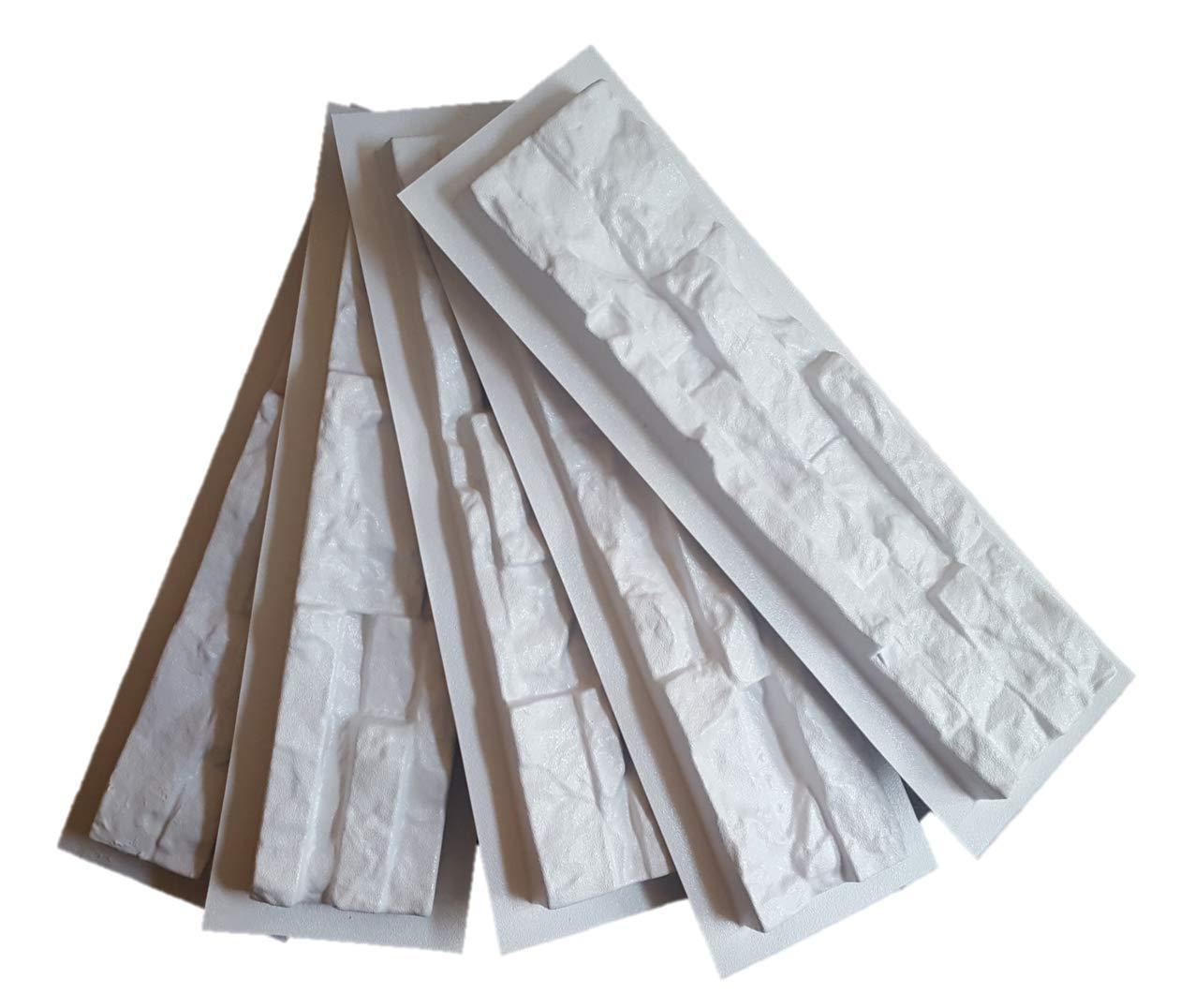 3 moldes para fachada de concreto. Imitación de muro de piedra