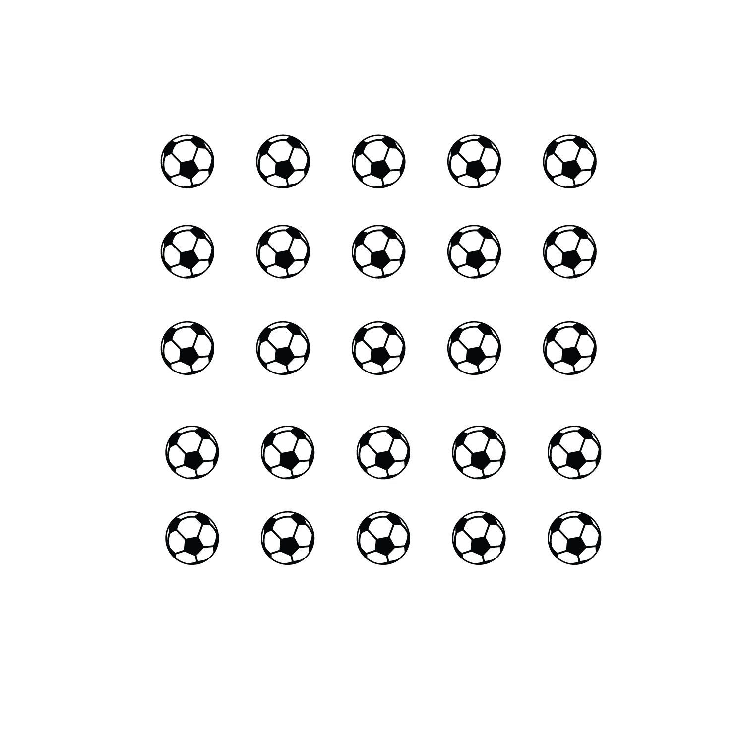 Kids Bedroom Sports Vinyl Wall Decal Stickers 1.5 x 1.5 Each one Pack of 25 Soccer Balls Childrens Room Wall Decor for Boys and Girls Vinyl Wall Art Decals