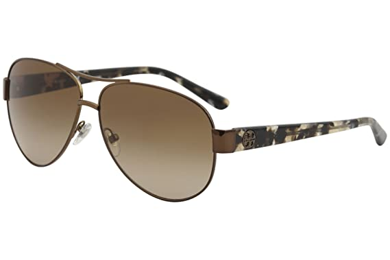996459fd81cc Amazon.com  Tory Burch Women s 0TY6057 Bronze Amber Gradient One ...
