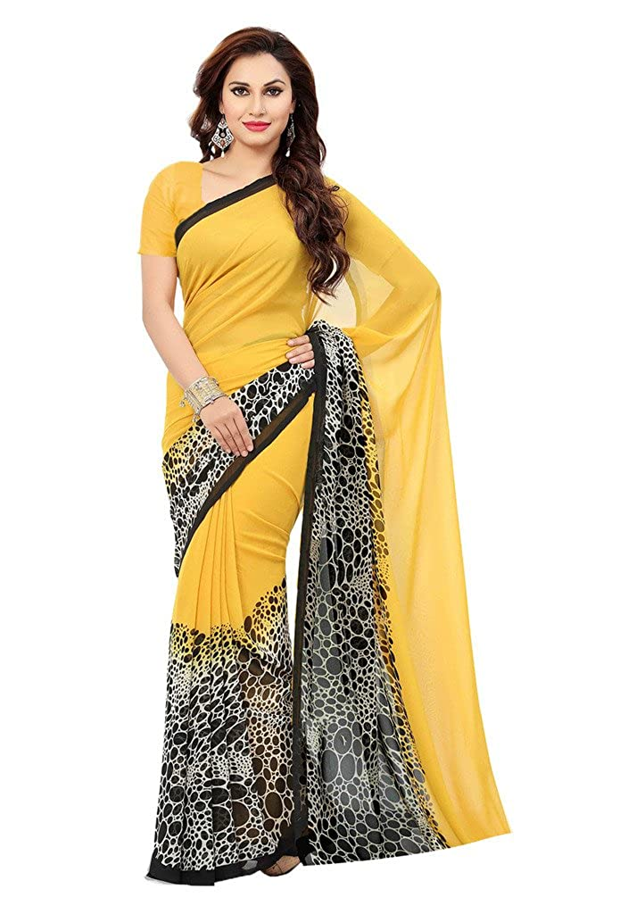 9e107092f0a ishin Women s Faux Georgette Sarees ( Combosr-1164) -Combo of 2  Amazon.in   Clothing   Accessories