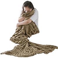 xuanlan hecho a mano manta de cola de sirena para niños adolescentes adultos