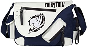 Gumstyle Fairy Tail Anime Cosplay Canvas Messenger Bag Crossbody Sling Shoulder Schoolbag for Boys Girls Navy Blue 1