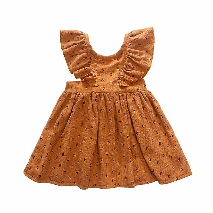 Amazon.com: CANDYEEMMA - Falda con tirantes para bebé o niña ...