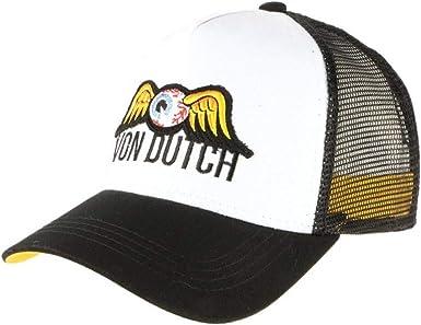 Von Dutch - Gorra de béisbol para hombre, color blanco y negro ...