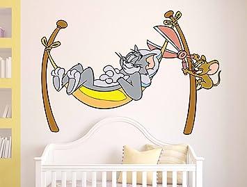 Decals Design Cartoon Sleeping Tom And Naughty Jerry Designu0027 Wall Sticker  (PVC Vinyl, Part 11