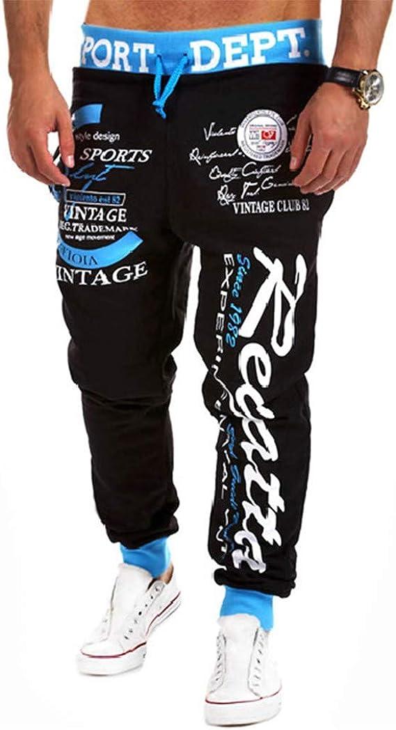 LANSKIRT_Pantalones Hombre Pantalón de Chándal Jogger Estampadas ...