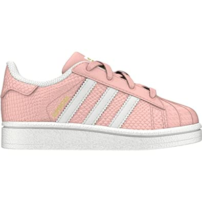 a8e2a9d3597 adidas Girls Originals Infant Girls Superstar Reptile Trainers in Pink -  6.5 Infant