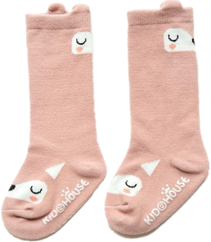 Unisex Baby Socks QandSweet 6 Pairs Non-Slip Knee-High Stockings for Toddler Boy Girls 2-4T by QandSweet (Image #5)