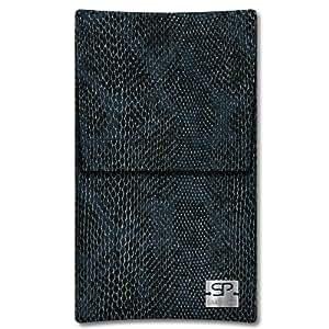 SIMON PIKECáscara Funda de móvi Sidney 01 negro pour WIKO Sublim cuero artificial serpiente