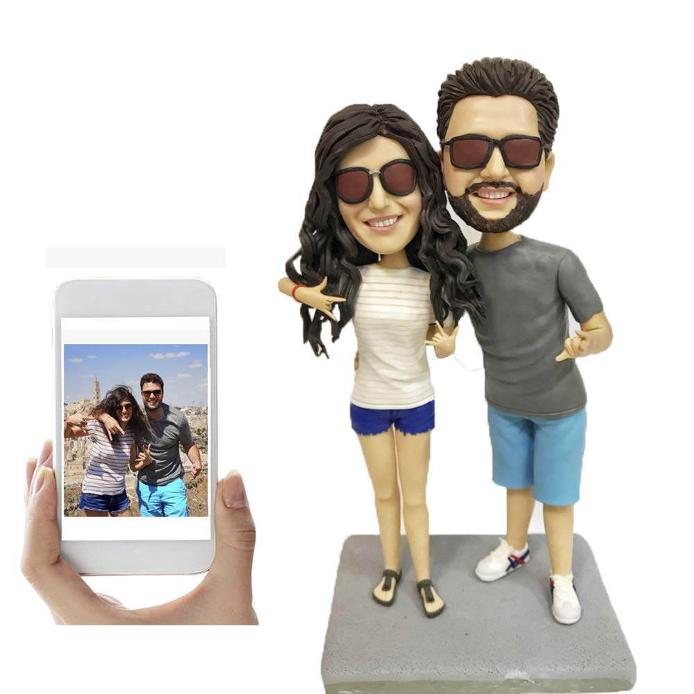 Fully Custom Lovers Bobblehead Personalized Couple Figurine, Two People,DHL Expedited Shipping Service