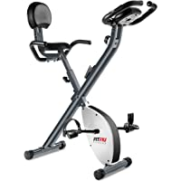Fitfiu BEST-220 Bicicleta Estática Plegable con Respaldo, Unisex Adulto, Gris, Talla Única