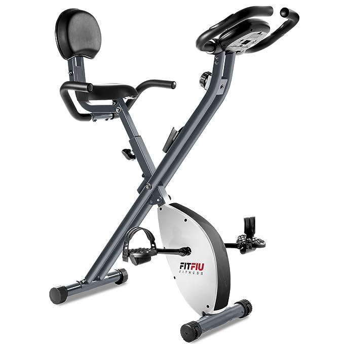 26 opinioni per Fitfiu BEST-X2000, Bicicletta statica pieghevole con schienale in similpelle,