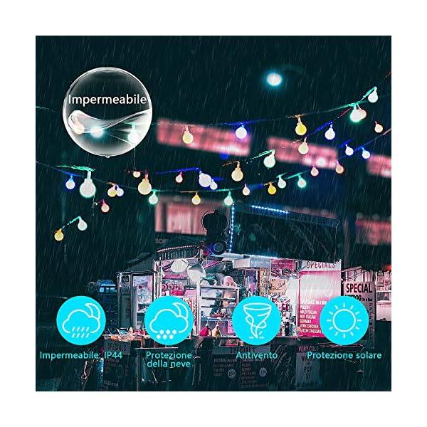 Luce della stringa,Tececu luce decorativa esterna 100 Palla LED USB, Catene Luminose 10M con 8 Modalità, per Interno/Esterno, Feste, Giardino, Natale, Matrimonio, Albero di Natale, Terrazzo 6 spesavip