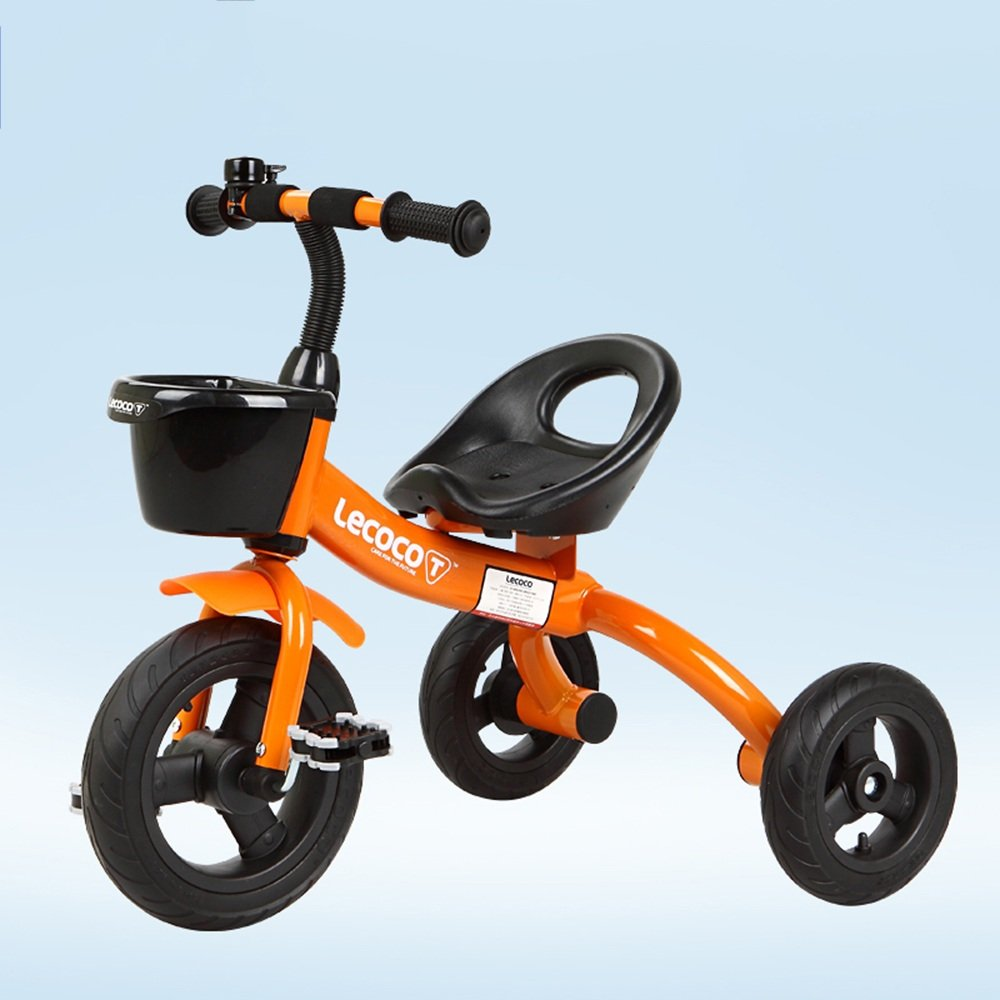 YANFEI 子ども用自転車 マウンテンバイク、ベビーキャリッジ、三輪車、子供用自転車、ベビーバイク、子供の男の子、女の子用トイカー 子供用ギフト B07DZFT6TZ オレンジ オレンジ