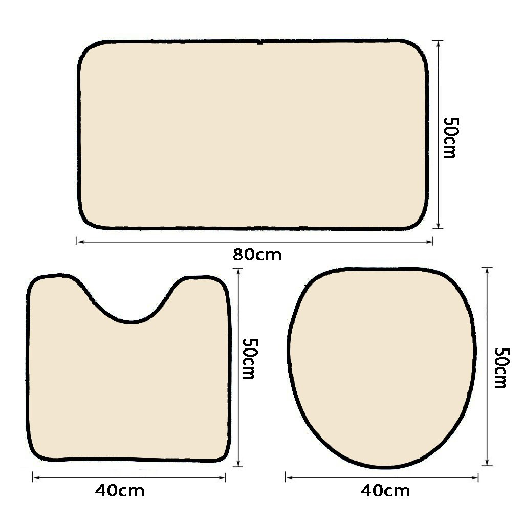 3 Piece Bath Rug Set Nalahome design-142031812 two caucasian men exercising thai b Bathroom Rug(15.7''x23.62'')/large Contour Mat(15.7''x15.7'')/Lid Cover(15.7''x16.9'')For Bathroom(orange) by Nalahome