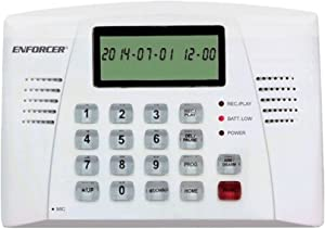 Seco-Larm E-921CPQ Automatic Voice Dialer for Security Systems, Trigger-activated alarm and dialer with user-programmable 20-second alarm message, 16-Digit large display with date/time