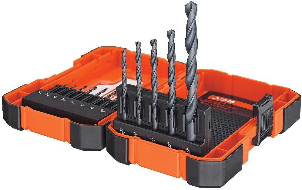 BLACK+DECKER BDA13BODD Black Oxide Drill Bit Set 13 Piece