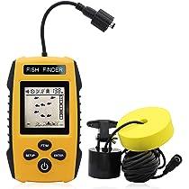 328fts Portable Fish Finder Depth Echo Sonar Alarm Sensor Transducer Fishfinder