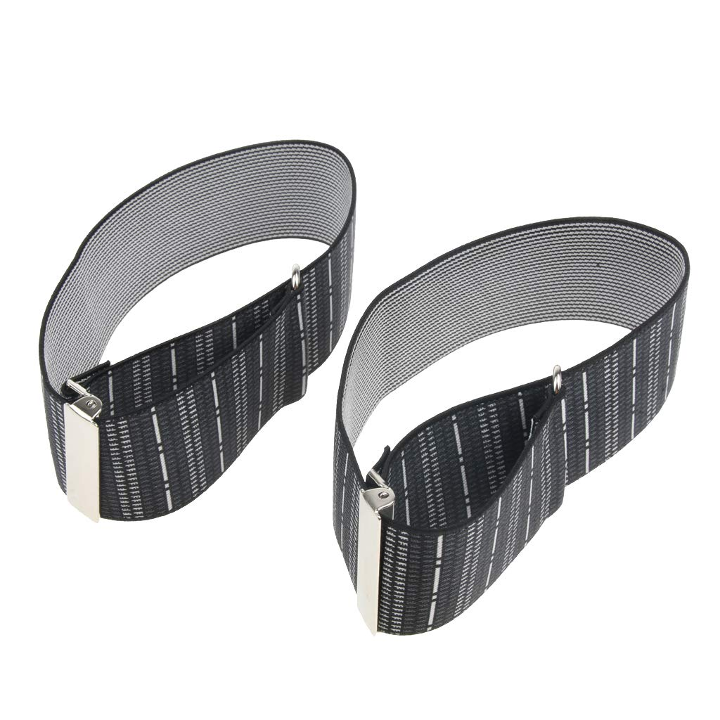 Fityle Men's Non Slip Elastic Shirt Garter Belt Sleeves Holder Arm Garter Band - Stripes, as described by Fityle (Image #7)