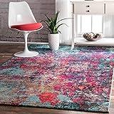 colorful area rugs nuLOOM ECCR20A Multi Reva Abstract Area Rug, 5' x 8', Multicolor