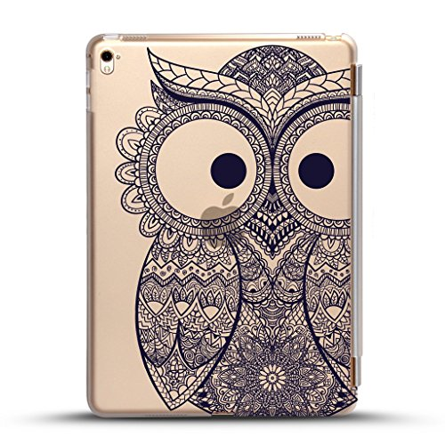 iPad mini 4 case , Come with Black detachable smart cover for Auto Wake/Sleep Feature, tribal Owl Design for New iPad Mini 4 Retina Display 2015 model (Cas For The Ipad Mini compare prices)