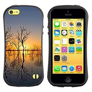 "Hypernova Slim Fit Dual Barniz Protector Caso Case Funda Para Apple iPhone 5C [Sunset Beautiful Nature 51""]"