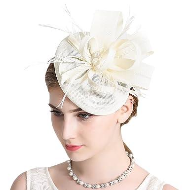 Damen Elegant Fascinator Hut Braut Hair Clip Accessoires Cocktail