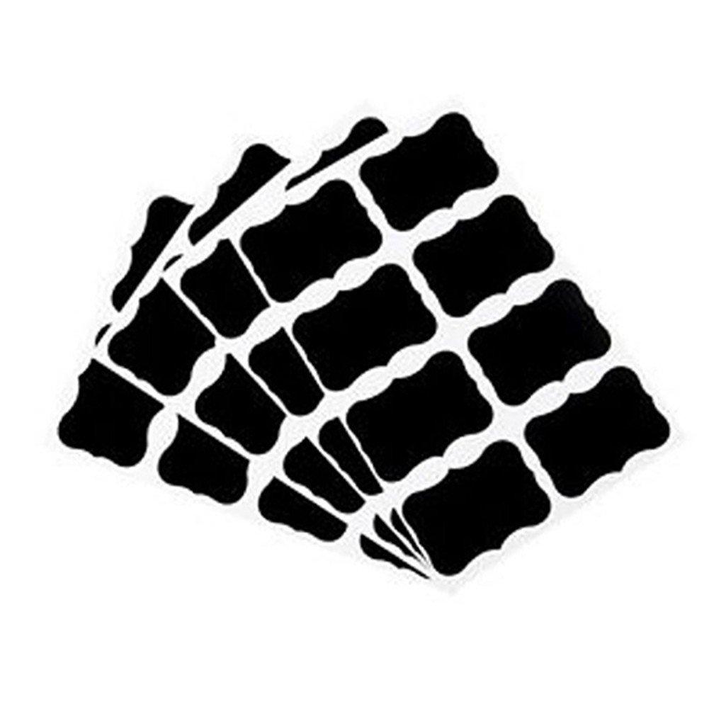 ZHOUBA 36Pcs Blackboard Chalk Board Stickers Craft Jar Labels Kitchen Office School Black