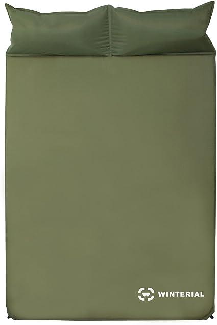 Amazon.com: Winterial colchoneta para dormir inflable, doble ...