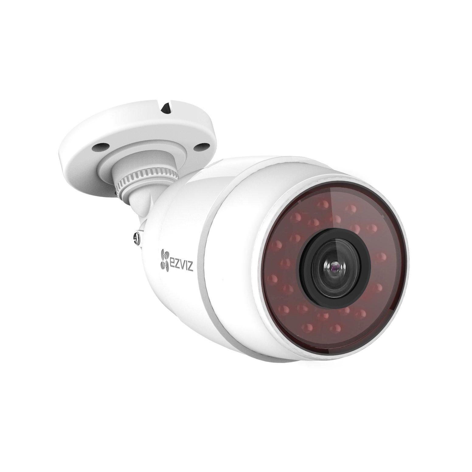 EZVIZ HuskyC HD 720p Outdoor Wi-Fi Video Security Bullet Camera, Works with Alexa, 100 ft. IR Night Vision, Weatherproof IP66