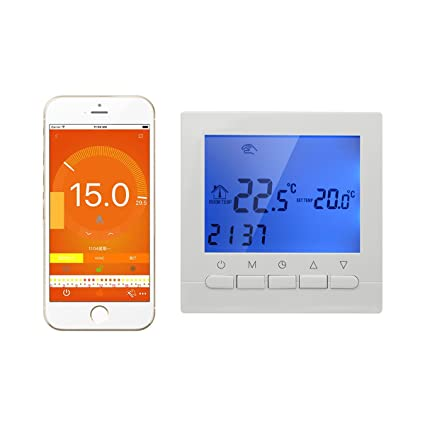 16A - Termostato Inteligente WIFI inalambrico por smartphone APP - y Termostato digital programable controlador programador
