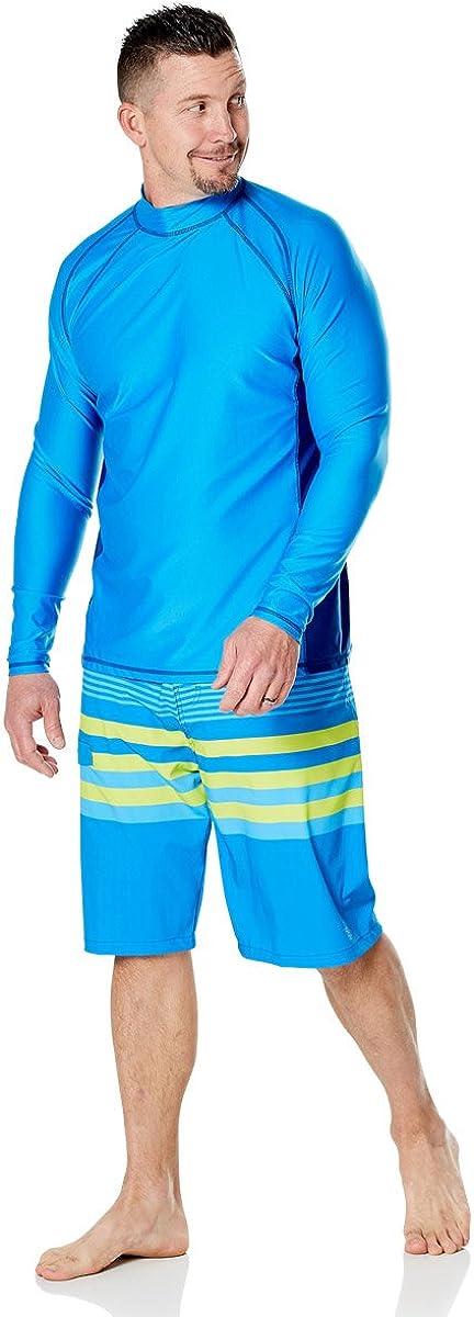 UV Skinz UPF 50 Mens Long Sleeve Active Sun /& Swim Shirt