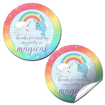 Amazon.com: Narwhal unicornio del mar gracias fiesta de ...