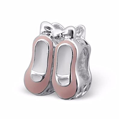 Silvadore - de plata del grano - par de zapatos Zapatillas sandalias de lazo rosa bebé pies - 925 ...