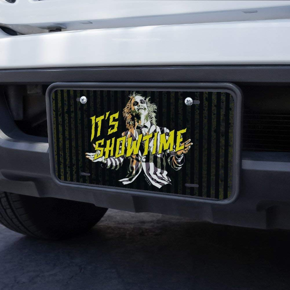 Graphics and More Beetlejuice Its Showtime Novelty Metal Vanity Tag License Plate