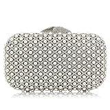 Luxury Bridal Crystal Clutches Women Clutch Purses Wedding Evening Bag Handbags (Silver)