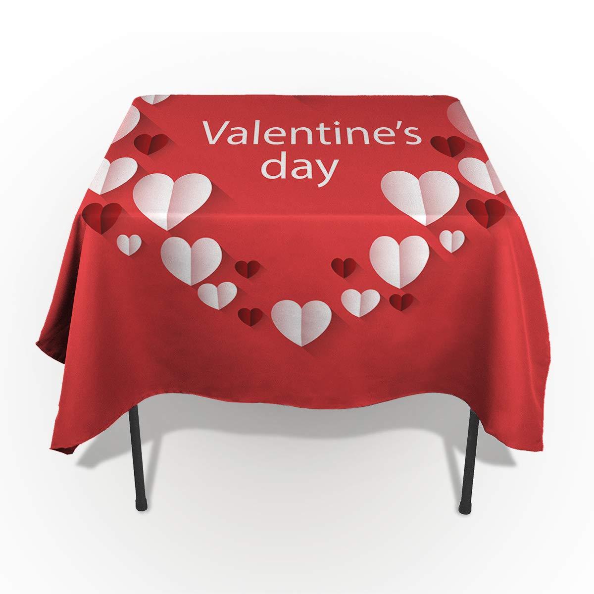 ロマンチックな花 バレンタインデー 長方形 テーブルクロス コットンリネン 洗濯可能 長方形 テーブルクロス カバー ホーム キッチン デートディナーテーブルトップ 装飾 53x70in CXL190110-SSTW02149ZBABITH 53x70in カラー-8 B07MQDMTXM