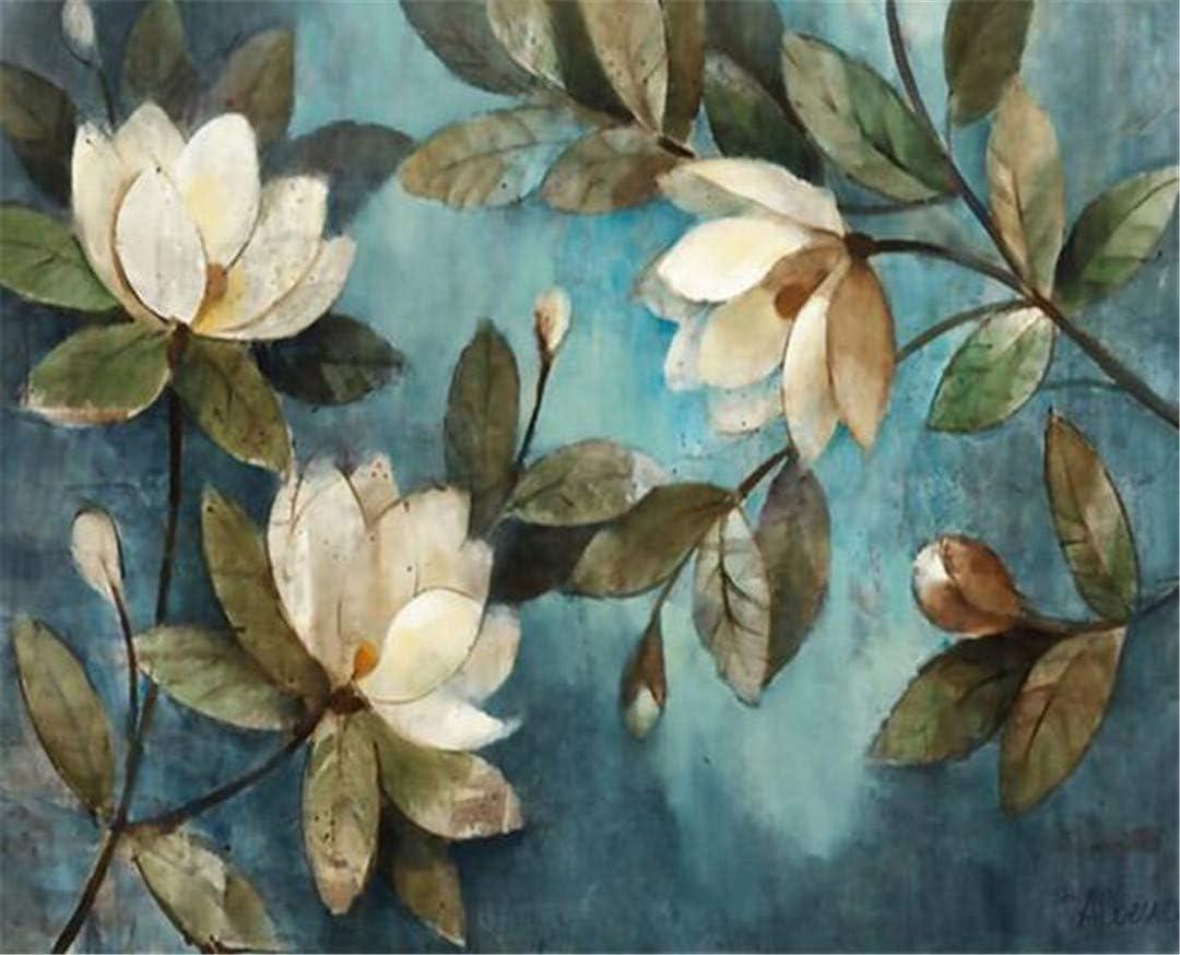 Motif floral bleu gard/énia 400cmX280cm Grand papier peint 3D