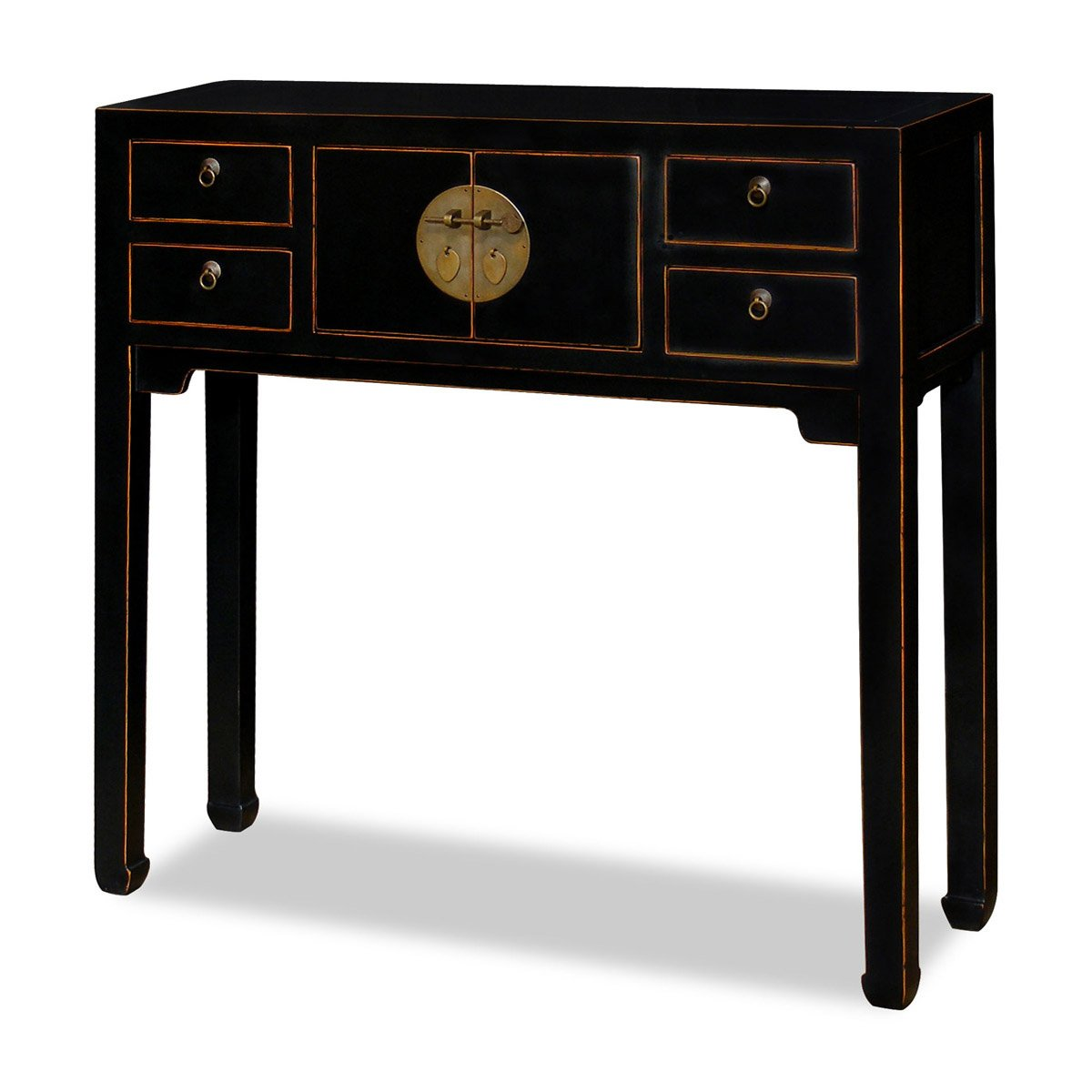 Amazon.com: China Furniture Online Elmwood Console Table, 36 Inches Ming  Style Cabinet In Walnut Finish: Kitchen U0026 Dining