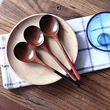 K\u0026C Wood Spoons Soup Spoon 3 Pieces Natural Eco-friendly Japanese Tableware Ellipse Wooden Coffee & K\u0026C Wood Spoons Soup Spoon 3 Pieces Natural Eco-friendly Japanese ...