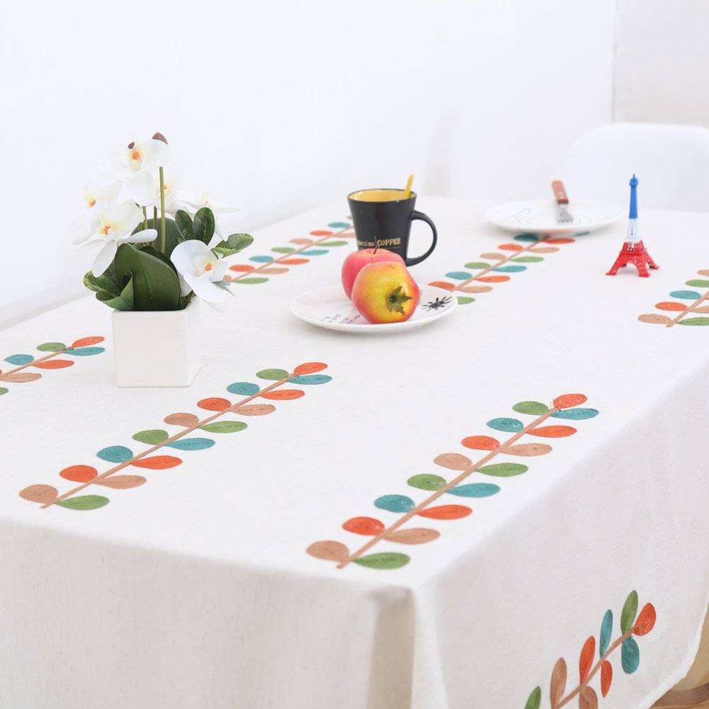 Pastoral fabric simple living room study table mat tablecloth-A 250x250cm(98x98inch)