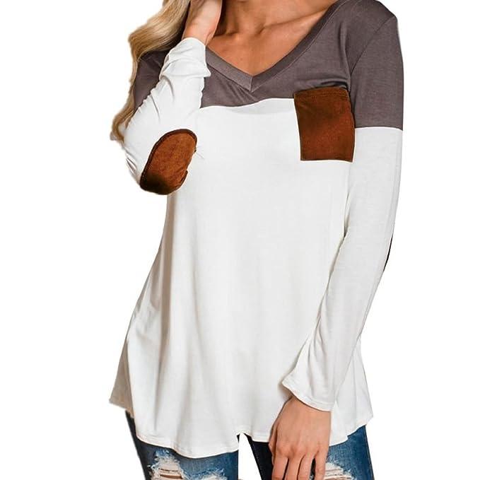 Sisit Blusa casual normal para mujer. Camiseta básica de manga larga para este invierno y