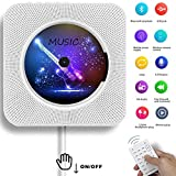 CD Player, ALICEDREAMS Wall Mountable Bluetooth CD Player Speaker Upgraded Version with Remote