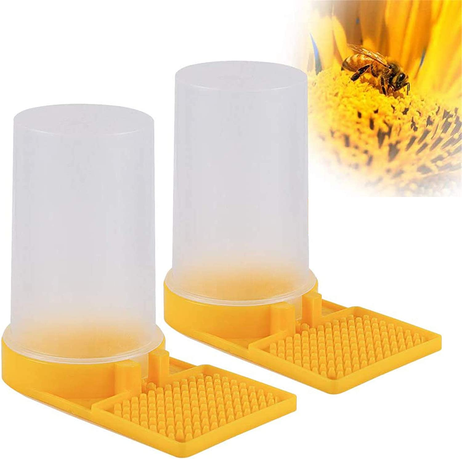 Mikimiqi 2 Pack Beekeeping Water Dispenser/Entrance Feeder