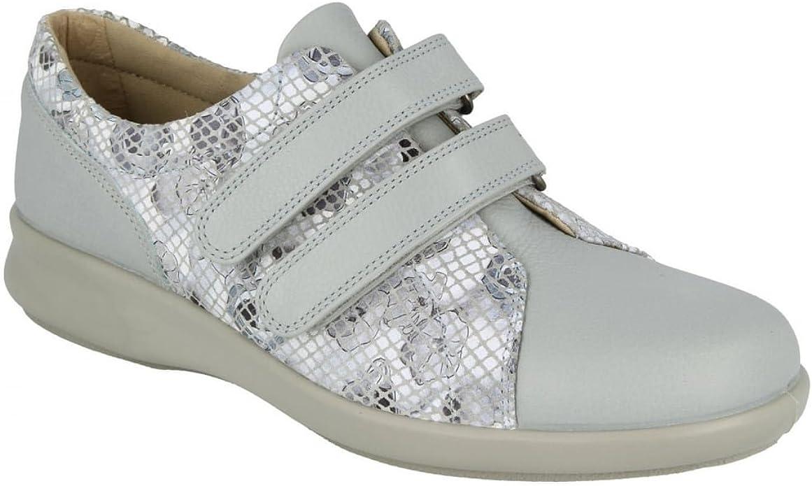 EASYB Womens Naomi Leather Velcro Shoes