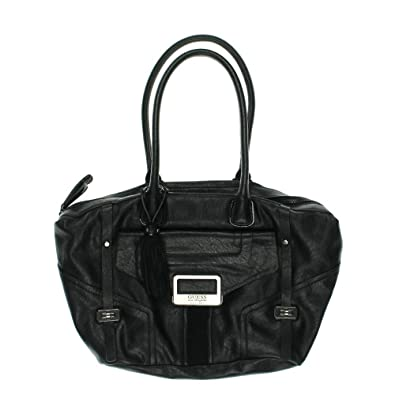 f014ca799c Guess Westbrook Crown Satchel (Black)  Handbags  Amazon.com