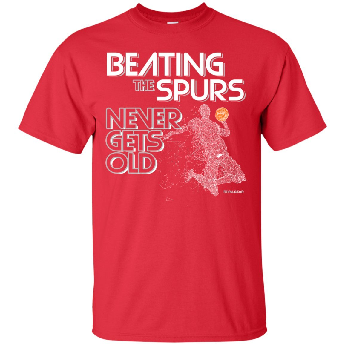 Beating The Spurs Never Gets Old Houston Basketball T-Shirt