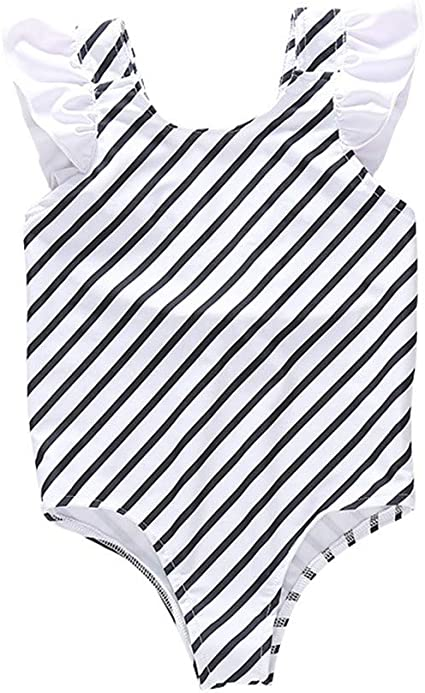 KONFA Baby Girls One Piece Swimsuit Bikini Set Bathing Suit Little Kids//Toddler Swimwear Rashguard Swan Romper Cover Up